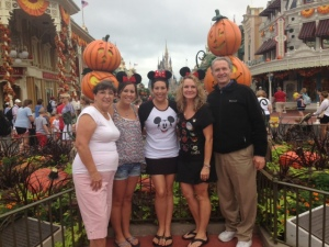 Pam, Haily, Gail, Melissa & Wally, Magic Kingdom, 2013