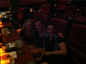 Melissa, Haily & Gail at Dine-In Theater