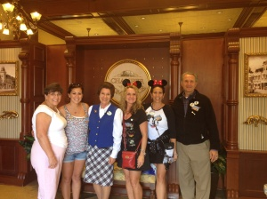 Pam, Haily, Claire, Melissa, Gail & Wally on behind the scenes tour of Magic Kingdom