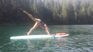 Gail SUP Yoga, Scotts Flat Lake